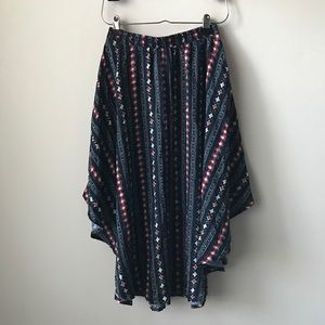 Hollister printed flowy skirt